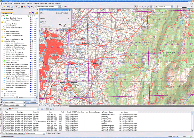 A complete GIS to process, visualize and communicate with the Defense application operatively
